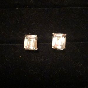 Other - Silver Tone CZ Earring Studs (no backs)